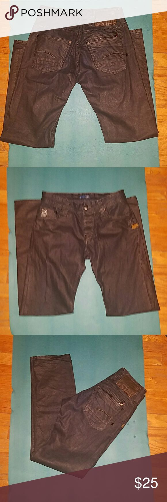*SOLD Men Black G-Star Raw Jeans Sz 28/32 These are practically brand new worn once men's black G-Star Raw Jeans size 28/32 straight fit. G-Star Jeans Slim Straight