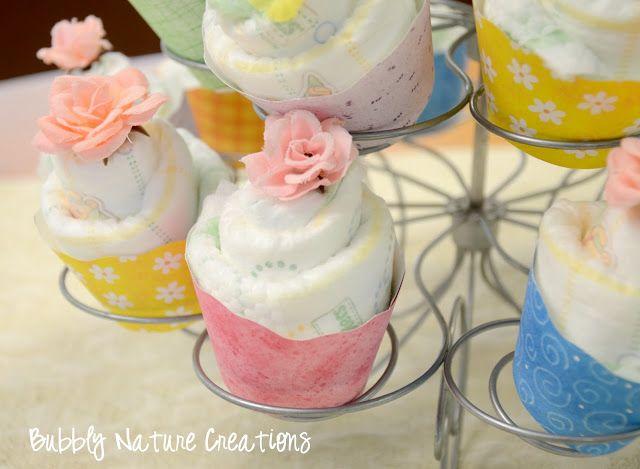 Diaper Cupcakes Tutorial! - Sprinkle Some Fun