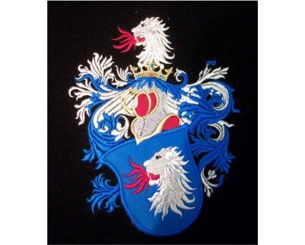 Herb rodowy/herb szlachecki PŁOMIEŃCZYK (ZADORA) - AHA STUDIO Pracownia Haftu Artystycznego   HAFT ARTYSTYCZNY -HERBY, SZTANDARY, PROPORCZYKI  cena 250 zł.   ZAMÓW