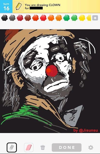draw something - clown
