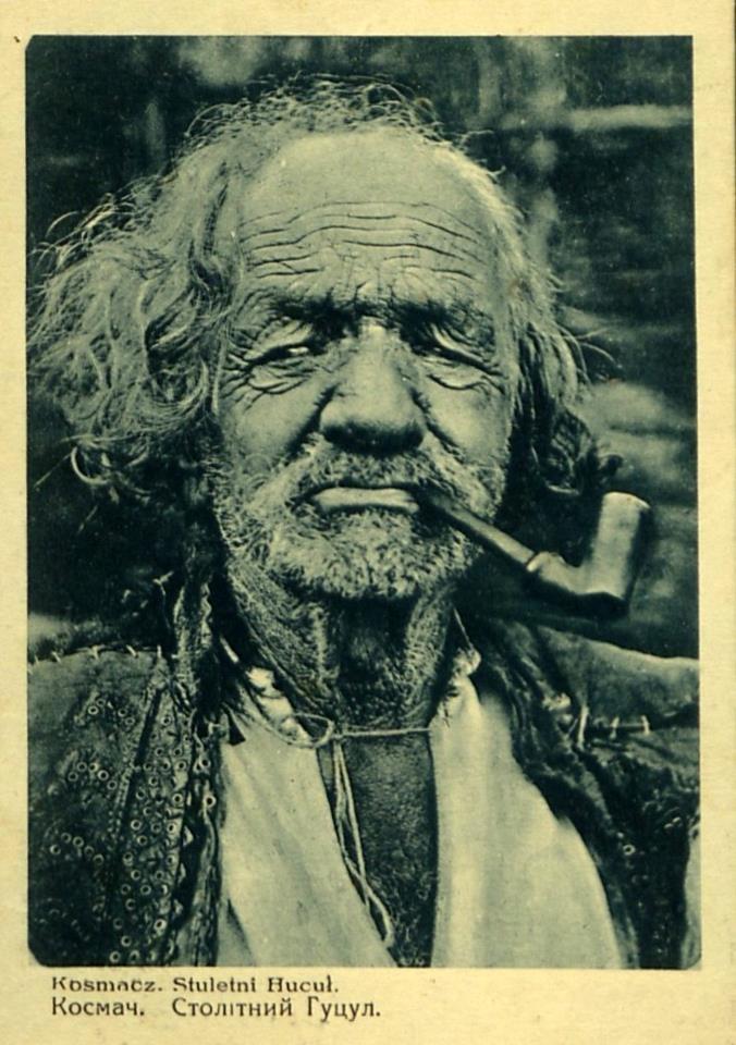 Kosmach, 100 y. old Hutsul, Ivano-Frankivs'k r-n, W Ukraine