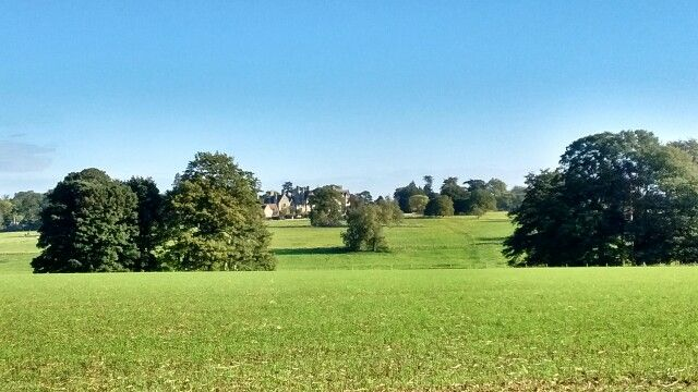 Looking towards Hassobury House in Farnham.