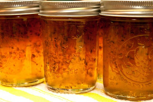 Spicy and sweet habanero-jalapeno jelly