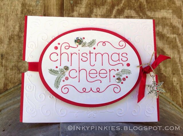 InkyPinkies: Cheerful Christmas - Sneak Peek of Stampin Up 2014 Holiday Catalog, launching Aug 28th.