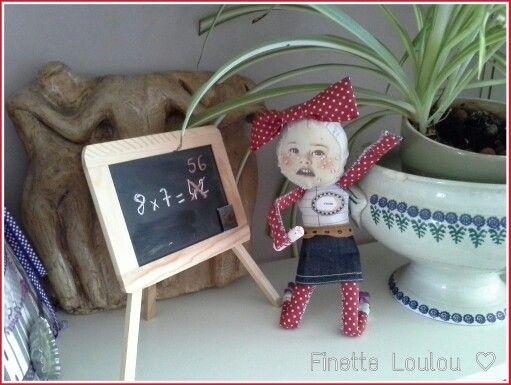 Table de multiplication ♡ Finette - Léa Stansal ♡ Personnage cousu main ♡