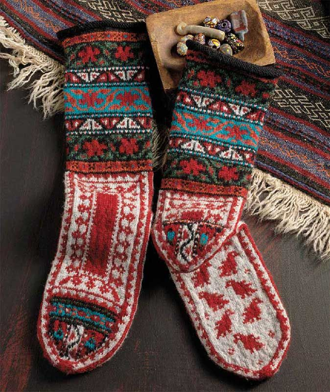 Discover Knitted Mittens and Socks from Around the World from PieceWork