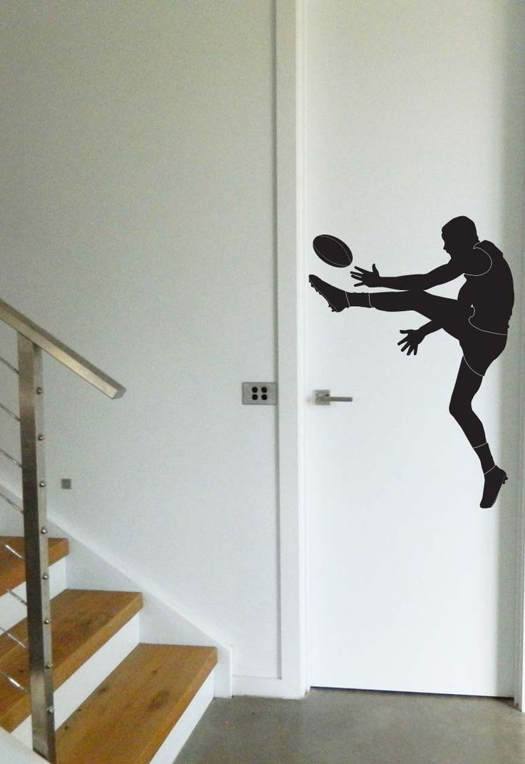 Australian Football League Wall Sticker. Removable decal for AFL fans. https://www.moonfacestudio.com.au/product-page/australian-footy-player-vinyl-wall-sticker-decal