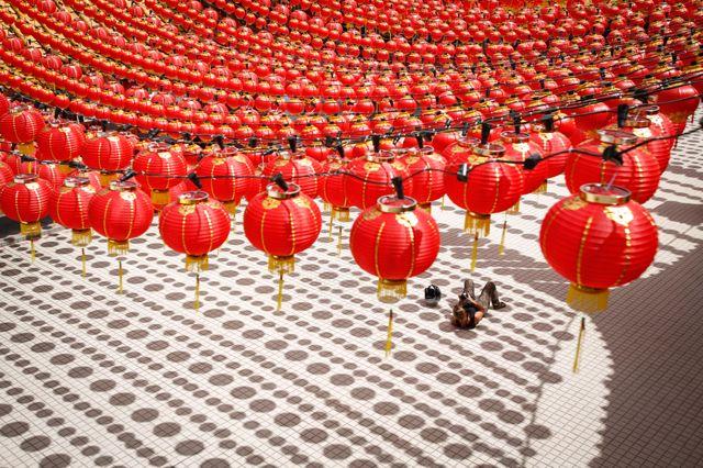 La preparazione delle lanterne cinesi per le celebrazioni del capodanno lunare che si svolgeranno l'8 febbraio a Kuala Lumpur, in Malesia. (Joshua Paul, Ap/Ansa)