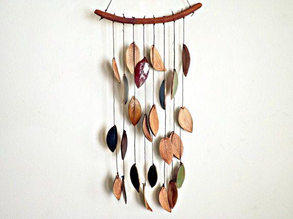 Faux Bois Stoneware Ceramic Windchimes Twigs por StudioByTheForest