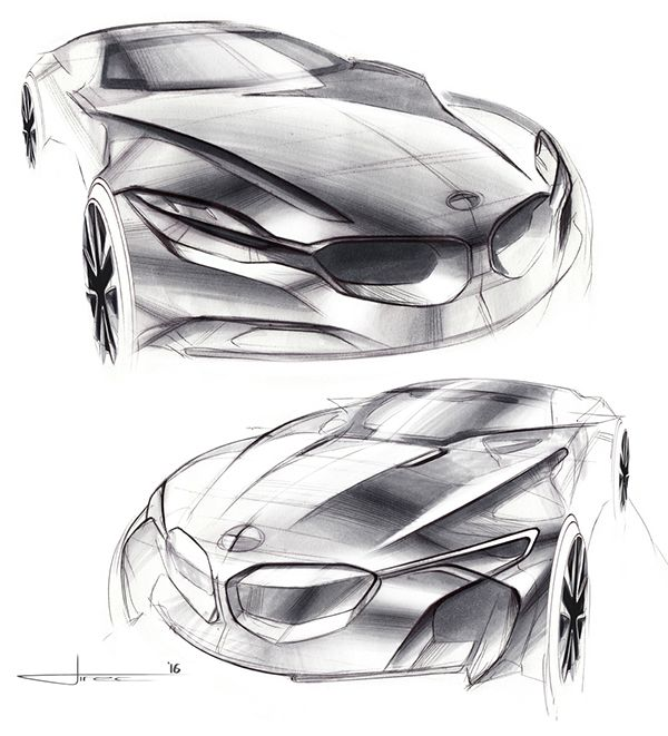BMW Luxury Coupe Sketches on ArtCenter Gallery