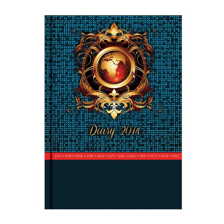 "MatrikaS Metallic 2014 Diary A5-Sd-C 5.82 x 8.07"" - (Pack of 10) - Diaries - Diaries & Planners - Paper Products"