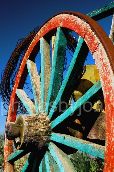 Rode Hard and Put Up - 8x12 signed and numbered original photograph - rustic wagon wheel . $25.00, via Etsy.