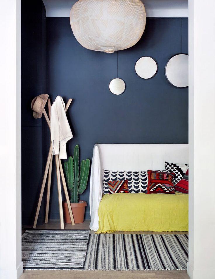 salle salon mur salle jolis murs mur bleu deco maison couleur appart barbara boccara chambre 3 - Bleu Attu Salon