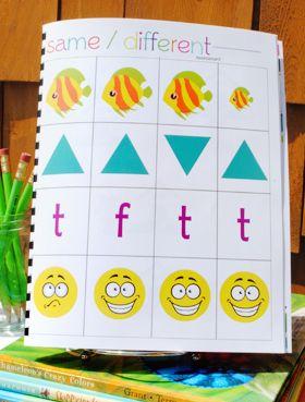 18 page FREE printable preschool workbook.  #preschool #workbook #printable #homeschool