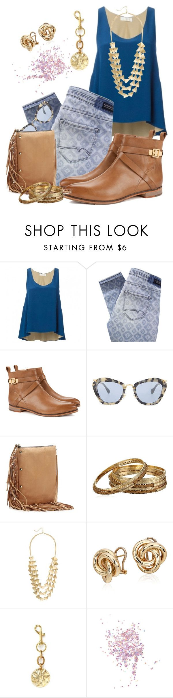 """Untitled #140"" by lelee09 ❤ liked on Polyvore featuring Maison Scotch, Ted Baker, Miu Miu, Hayden-Harnett, Blue Nile, Lulu Frost and Topshop"