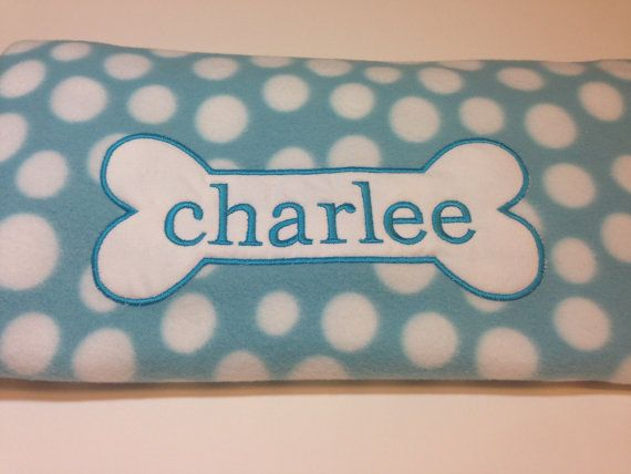 Hey, I found this really awesome Etsy listing at https://www.etsy.com/listing/213530109/personalized-dog-blanket
