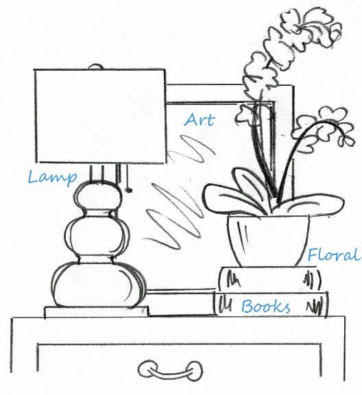 If you were wondering how interior designers' Tables and Chest are styled so well. There is a formula.
