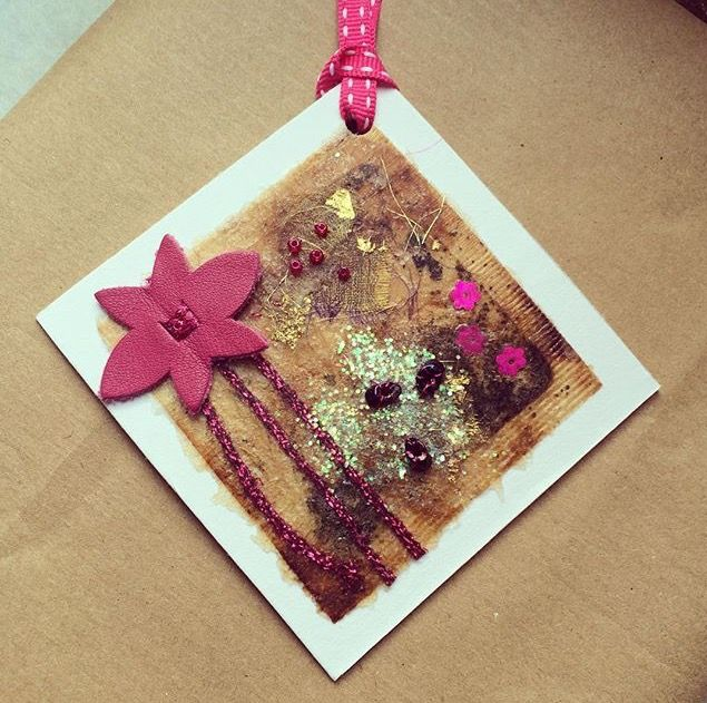 #teabag #textiles #recycling  gift tags
