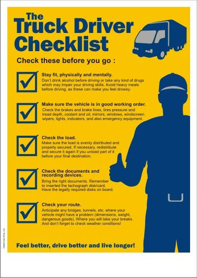 Truck Driver Checklist