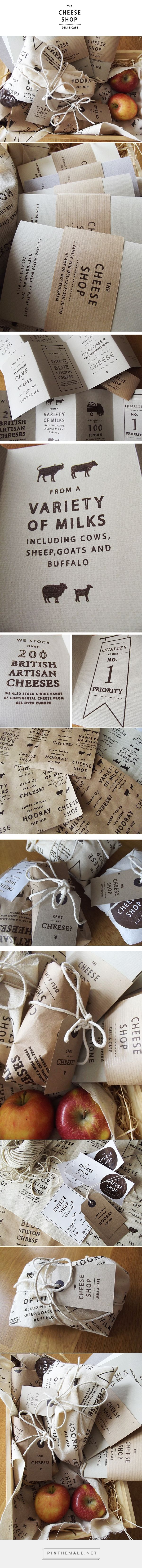 The Cheese Shop on Behance by Charlotte Estelle Littlehales curated by Packaging Diva PD.  Identity packaging rebrand for The Cheese Shop based locally in Nottingham.