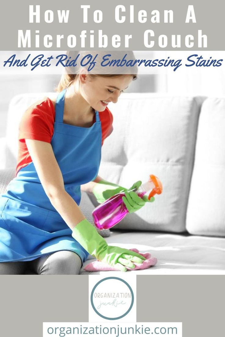 How To Clean A Microfiber Couch in 2020 Microfiber couch