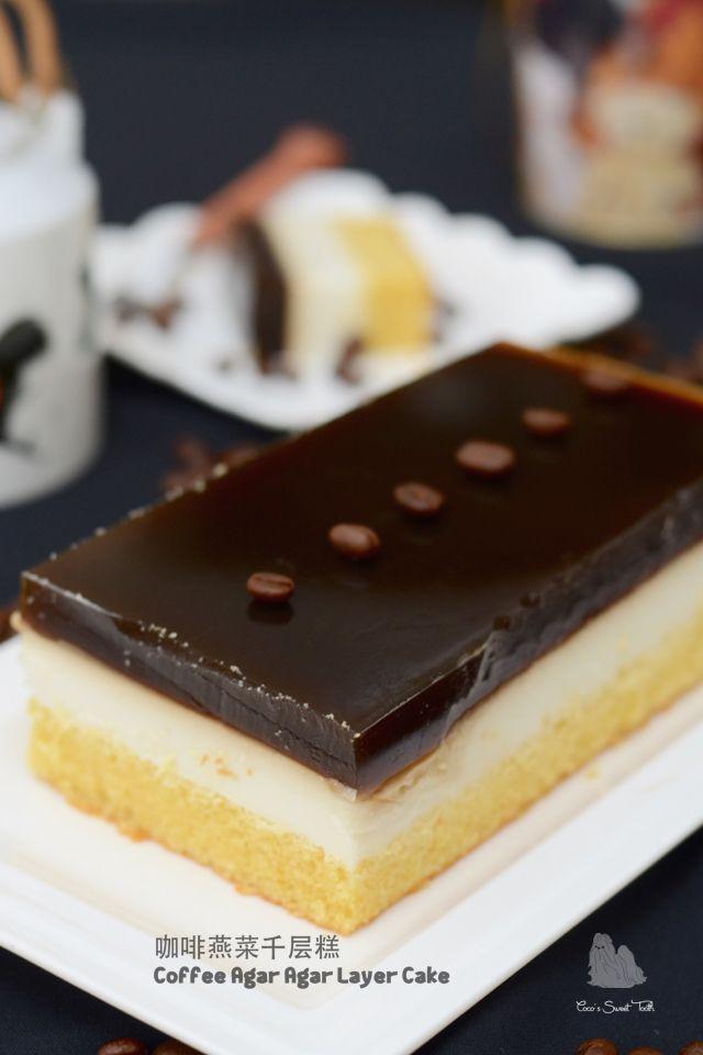 咖啡燕菜千层糕 Coffee Agar Agar Layer Cake
