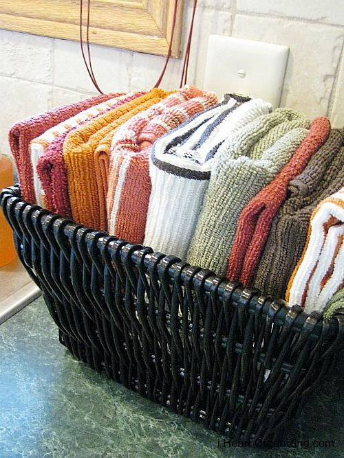 how to organize dish towels - Google Search