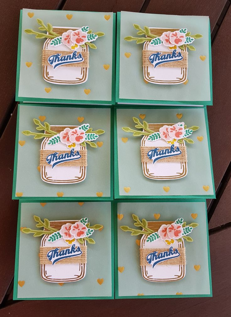 Thankyou cards to go with my orders for my Hostess Club.