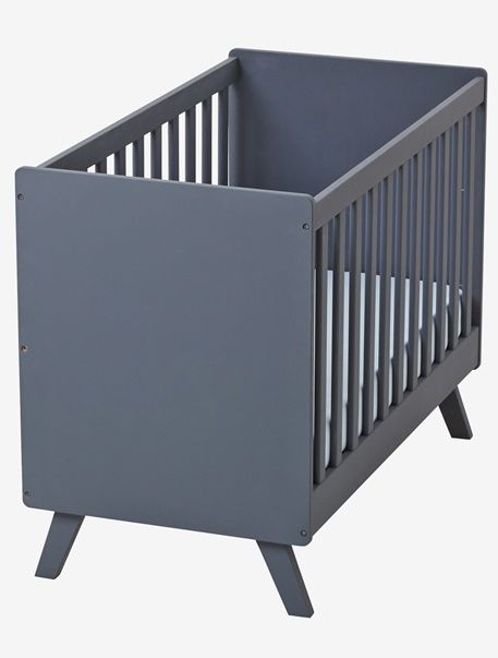 Lit bébé transformable à barreaux Madison - Blanc+Gris - 4