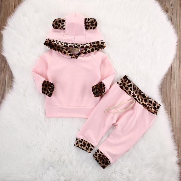 Animal Hooded Tops + Pants Outfit