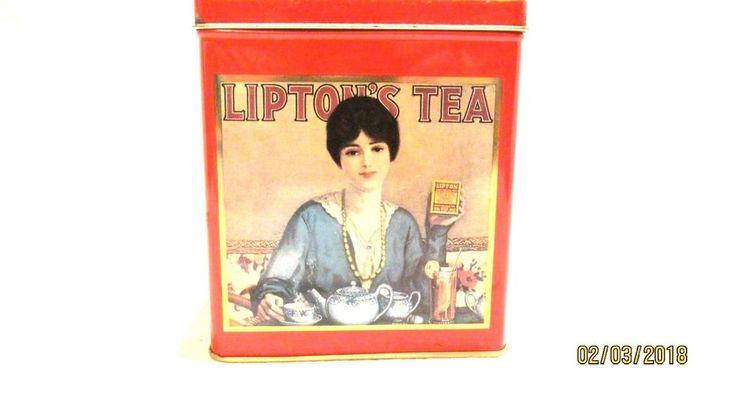 Lipton Tea Nostalic Tin Collection Series 101 WWII Reproduction
