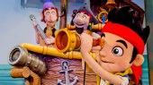 Performing at Disney Junior - Live on Stage! are puppets of Jake and his band of Never Land Pirates