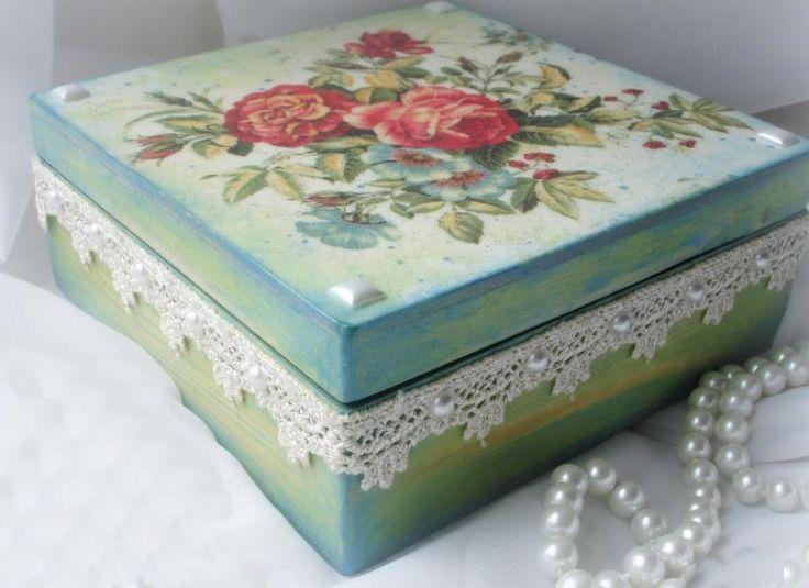 Cajas decoradas una colecci n de ideas sobre bricolaje y - Cajas de madera decorativas ...