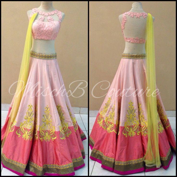Lehenga by MischB Couture, indian lehenga, indian fashion, desi style, desi couture
