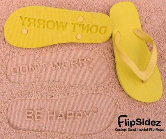 Custom Sand Imprint Flip Flops. Personalize With Your Design. No Minimum Order Quantity :)