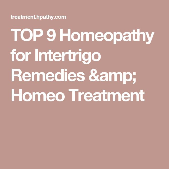 TOP 9 Homeopathy for Intertrigo Remedies & Homeo Treatment