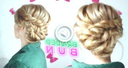 MEDIUM SHORT HAIR HAIRSTYLE CUTE ELEGANT BRAIDED BUN UPDO | Awesome Hairstyles -...