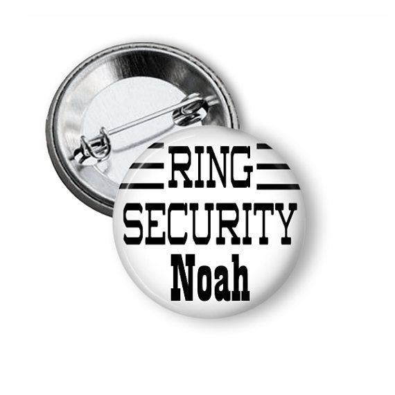 Ring Security Personalized Button Alternative by NannyGoatsCloset