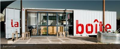 Shipping Container Homes: La Boite Cafe Shipping Container Austin TX