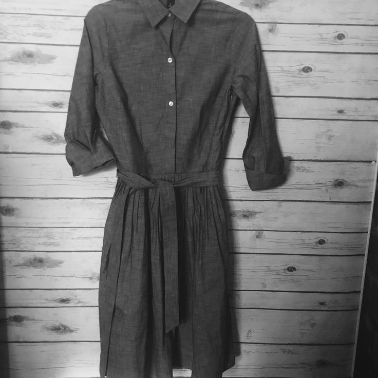Lands End Womens Top 100% cotton Chambray Shirt Dress Lagen wear Dress sz 2  | eBay