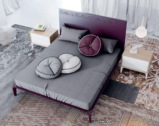 Floral Detail Modern Garcia Sabate Bed Choice Of Size And High Gloss Or Matt  Finish