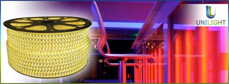 Taśma LED 230V - Ciepły biały @ http://goo.gl/iDordw  #LED #Warsaw #Poland Nie szkodliwe promieniowanie UV na oczy