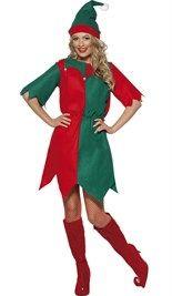 Voordelig #elf #kerstjurkje met hoedje. Bestel direct online!