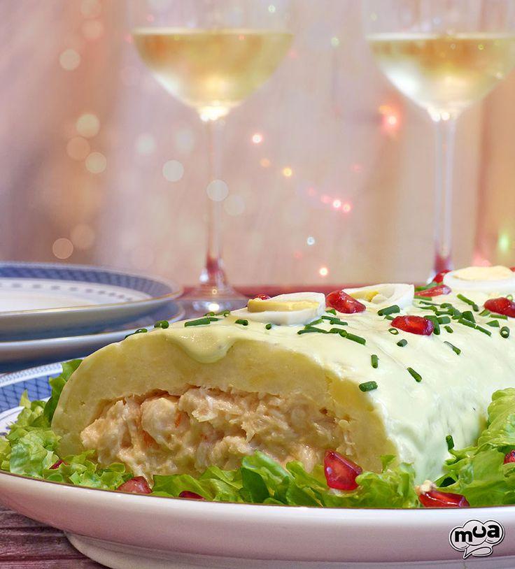 Brazo de patata con rape y merluza #cenanavidad #fiesta #cena #marisco #nochebuena #recetas #comida