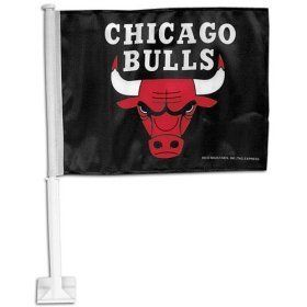 "Chicago Bulls - NBA Car Flag by flagline. $13.99. 11.5"" x 14.5"" car flag. Our National Basketball Association Car Flags are all 11.5 x 14.5 inch high-quality satin polyester car flag. Fits securely on your car window. For a balanced look, get one for each side of your car!"