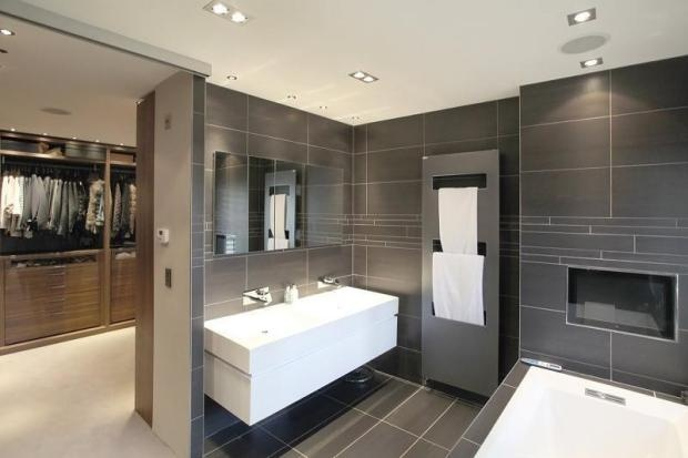 En suite Bathroom entrance through cupboard    Home Ideas   Pinterest   Grey bathrooms  Entrance and Built ins. En suite Bathroom entrance through cupboard    Home Ideas