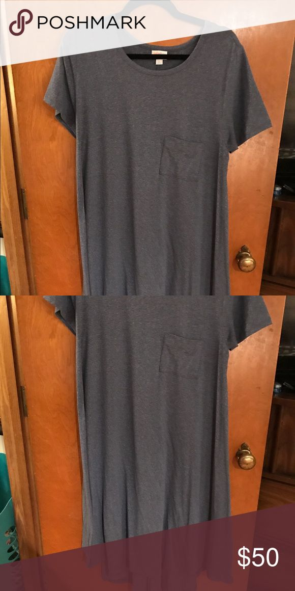Buttery soft LARGE carly leggings material LULAROE Buttery soft leggings material large Carly worn blueish grey cross posted LuLaRoe Dresses High Low