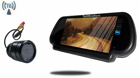 7-Inch Mirror monitor with Wireless 170° Bumper Backup Camera