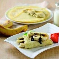 Banana choco crepes menu sempurna untuk hidangan penutup.