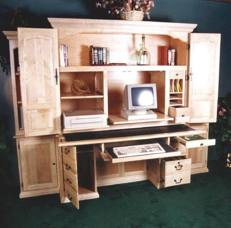 25 great ideas about computer armoire on pinterest for Computer armoire ikea